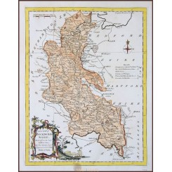 A NEW MAP OF BUCKINGHAM SHIRE, ANTIQUE COPPERPLATE ENGRAVING, BY KITCHIN 1764.