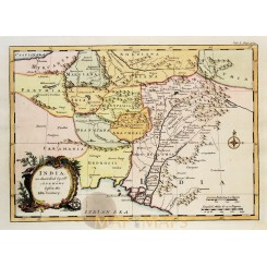 INDIA ANTIQUE MAP, OLD PERSIAN, ACHAEMENID EMPIRE, BY KITCHIN/BOWEN 1745