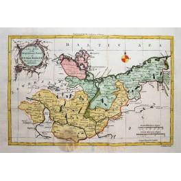 Saxony Brandenburg Germany atlas map by Rollos map 1760