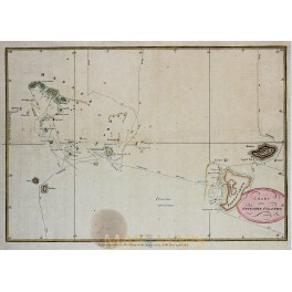 Antique map Tonga, Friendly Islands, by Hogg. 1790.