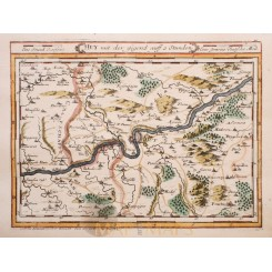 HUY, HOEI or HU WALLOON BELGIUM ORIGINAL ANTIQUE MAP BY BODENEHR 1720