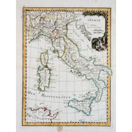 L'Italie Italy Venice old antique map Le Rouge 1743