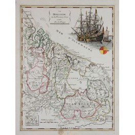 Seven Province Holland old map Le Rouge 1748