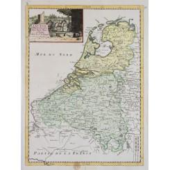 Holland antique map Les XVII Provinces Le Rouge 1748