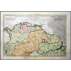 ANTIQUE COLONIAL MAP, SOUTH AMERICA, SURINAME, BRAZIL, BY BOONE 1787