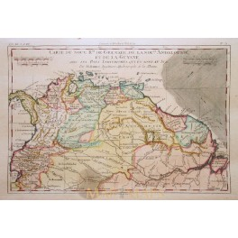 South America Grenada Suriname antique map-Bonne 1780