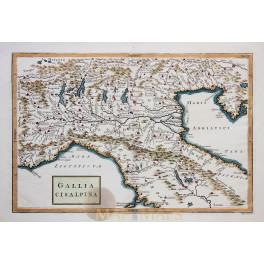 North Italy Venice Gallia antique map Cellarius 1796