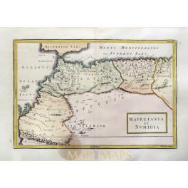 Africa Mauretania et Numidia Tunisia Morocco old map Cellarius 1796