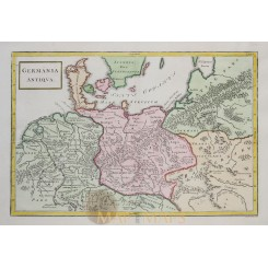 German in ancient times old map Cellarius 1796
