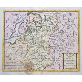 Antique map of Russia, Russie by De La Porte 1786