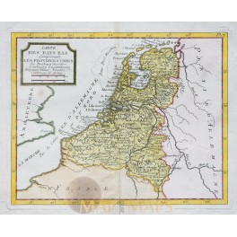 Netherland Old map of Holland by La Porte 1786
