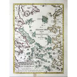 Greece: Aegean Sea Islands Old Map Aegaeische Meer Reilly 1791