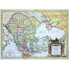 Turkey In Europe and Hungary Antique map TURQUIE D'EUROPE Philippe 1787