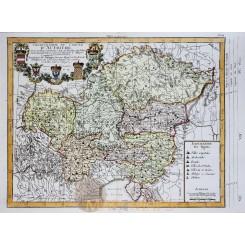 Cercle D'Autriche Austria Old antique map Philippe 1787