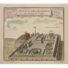 Peking Astronomic Observatory China, Old print 1750