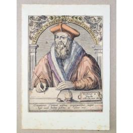 Archbishop of Canterbury Thomas Crammerus Old print 1580