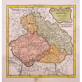 1795 Large Atlas map Czech Republic Poland Germany by Vaugondy