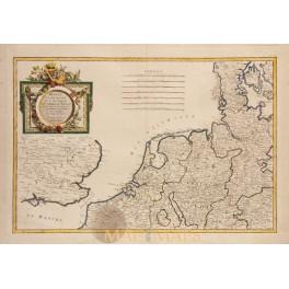 1780 antique map Dediee et Presenteea by Zannoni