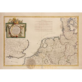 Netherlands Germany Denmark Antique map Zannoni 1762