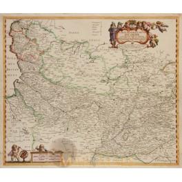 France Picardy CARTE GÉNÉRALE PICARDIE Cromoisy/v Lochom 1648
