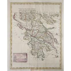 ANCIENT GREECE ANTIQUE MAP GRAECIA ANTIQUA ZATTA & SONS VENICE 1785