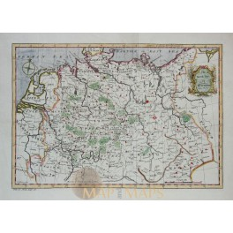 North Part of Germany by John Gibson antique map 1770