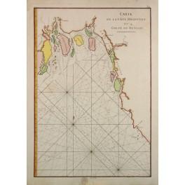 SEA COAST NORTH EAST OF INDIA GOLFE DU BENGALE ANTIQUE CHART JEAN BAPTISTE 1775