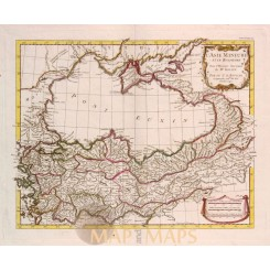 Asia Minor Early map The Bosphorus by d'Anville 1740