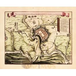 STATT-IGLAW-Germany antiqye plan Merian 1647