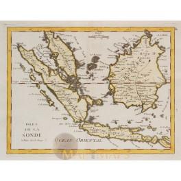 Indonesian Islands Sumatra Bali old map Le Rouge 1756