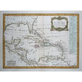 Mexico Cuba Antilles antique map Delamarche 1783