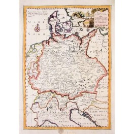 Germany Denmark antique map by Bowen- Moore 1780