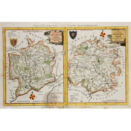 MONMOUTHSHIRE, HEREFORDSHIRE ANTIQUE MAP BY KITCHEN 1786