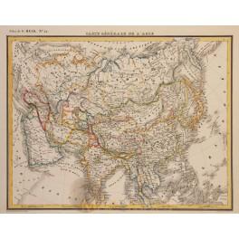 ASIA JAPON MALACCA CHINA INDIA ORIGINAL ANTIQUE MAP G. HECK 1842