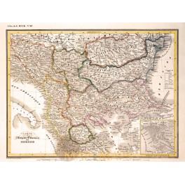 Empire Ottoman old map L'Empire Ottoman Heck 1842