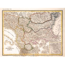 OTTOMAN EMPIRE IN EUROPE ANTIQUE OLD MAP – G. HECK 1842