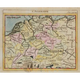 ANTIQUE MAP GERMANY EMPIRE ANONYMOUS c 1750