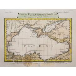 Black Sea old map Carte Du Paulus Méotide Barbie 1781