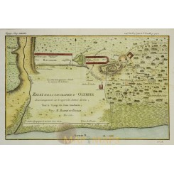 Olympia Olympus ancient Greece antique map Barbie 1780