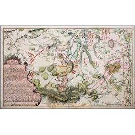 Battle plan Hoch-Kirchen Prussia and the Habsburg Empire Old antique map 1760
