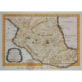 Mexico La Vera Cruz Acapulco old antique map by Bellin 1749