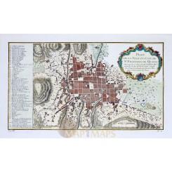 St. Francois de Quito, Ecuador old map Bellin 1754