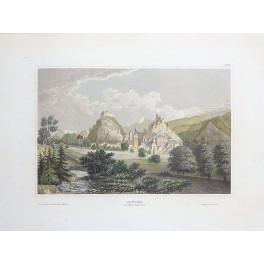 Sion, Swiss canton of Valais Switzerland Sitten old antique print 1850