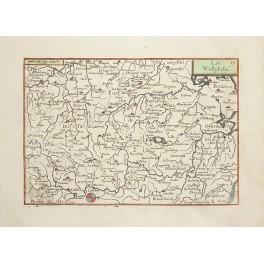LA WESTPHALIE Westphalia German rare German antique map Tassin 1633