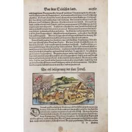 First Battle of Zurich, Switzerland, Seb. Munster 1600