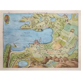 Pozzuola Pozzuoli Campania Mare Puteolanum Italy antique map by Hondius 1627