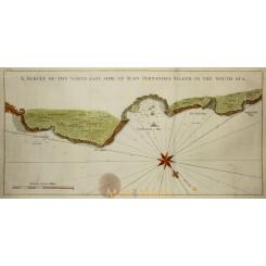 Juan Fernandes Island in the South Sea Chile Bellin 1748