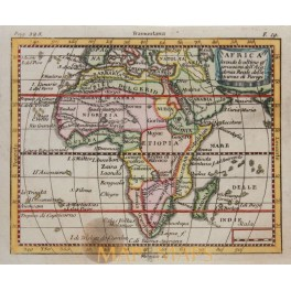 Africa antique map by Buffier 1744
