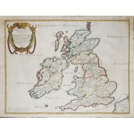 British Isles Scotland Ireland antique map Tavenier/Sanson 1641