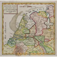 United Provinces of The Netherlands, Vaugondy map 1750
